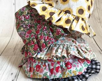 Girls Summer Hat, Baby Summer Hat, Girls Sunhat, Sun hat for baby girl, Baby Girl Summer Outift, Girls Summer Clothes, Floral Sunhat