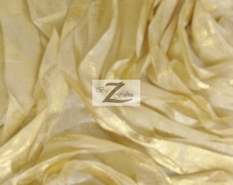 """Rosette Acrylic Satin Fabric - GOLD - 58/60"""" Width Sold By The Yard"""
