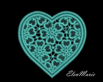 MACHINE EMBROIDERY DESIGN -Lace Heart