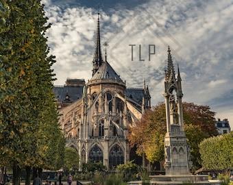 Paris Photography, Notre-Dame de Paris, Minimalist Wall Art Print, Extra Large Art, Modern Urban Wall Decor, Gift for Her or Him
