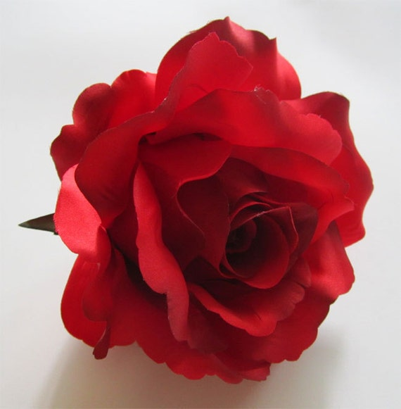 2x huge red roses artificial silk flower heads 6 inches 2x huge red roses artificial silk flower heads 6 inches wholesale lot for wedding work make hair clips headbands hats from fayflowershop on etsy mightylinksfo Choice Image
