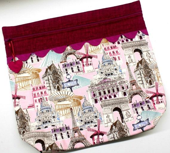 MORE2LUV I Love France Cross Stitch Project Bag