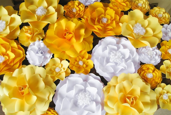 Yellow Flower Backdrop Dessert Table Decor Wall Paper