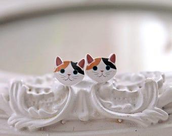 Kattun Kitty Katzen süßen Kawaii Ohrringe