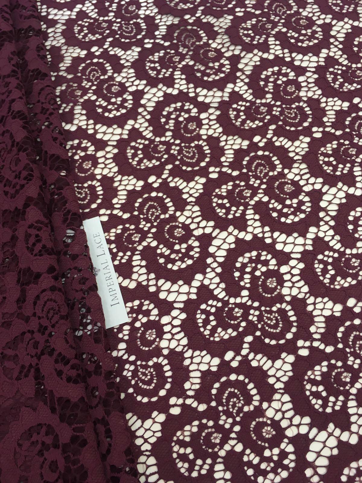 rote spitzenstoff burgund spitze stoff franz sische spitze. Black Bedroom Furniture Sets. Home Design Ideas
