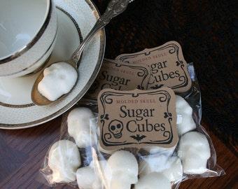 Sugar Skulls INTERNATIONAL ONLY - 12 Bags of Four Skulls in Flat Rate Box, sugar cube skulls