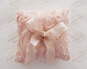 Bridal Ring Cushion / Ring Pillow Dusty Pink Silk