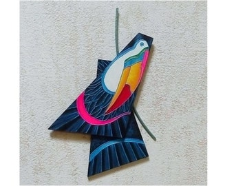 Toucan, exotic flora and fauna handicrafts for home decor or a special gift