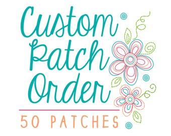 Custom Embroidered Iron On Patch Design - Custom Iron on Patch - Minimum 50