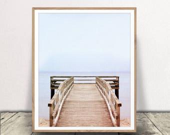 Beach Print, Digital Download, Ocean Pier Jpeg, Beach Art, Ocean Art, Beach Printable,  Ocean Pier Print, Minimalist Art, Modern Photography