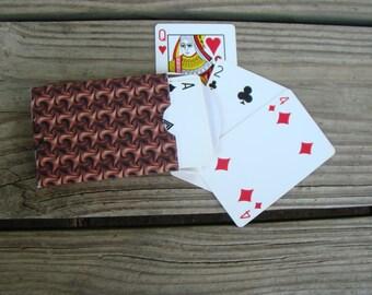 Printable Playing Card Favor Box Chocolate Swirls DIY Gift Box