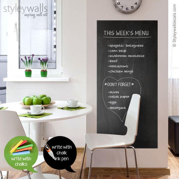 Chalkboard Wall Decal for Home, Office or Classroom bystyleywalls