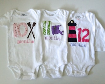 Girls Nautical Month-by-Month Bodysuits (Months 10-12)