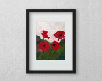 Poppies Print 5x7inches