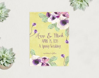 Spring Weddings Save The Date Cards