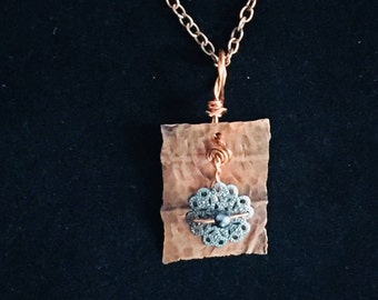 Necklace Hammered Copper