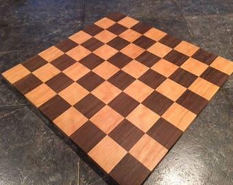 Cherry and Peruvian Walnut Chess Board