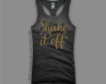 Shake it Off Glitter Girl's Racerback