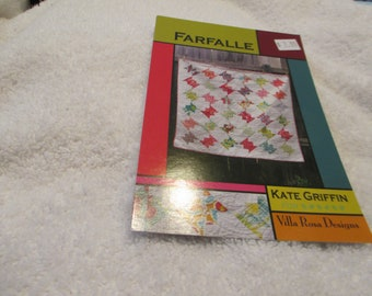 """Paper Pattern for a Quilt Called Farfalle by Kate Griffin for Villa Rosa Designs 52"""" square"""