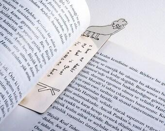 Signet en argent sterling de dessins, marque page personnalisé, one-of-a-kind cadeau vos enfants pour les amateurs de livre de fait sur commande