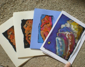 Taos Mountain painting on card and painted cards Taos Santa Fe Northern New Mexico sacred landscape desert southwest