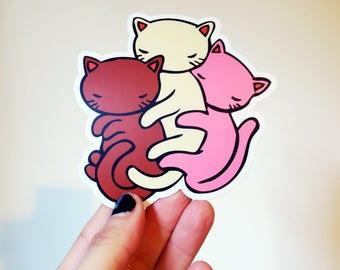 Vinyl Sticker - Neapolitan Cat Spoon
