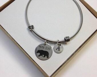 Mothers Day Gift, Mama Bear Bracelet, Mama Bear Bracelet, Personalized Mama Bear Jewelry, Gift for Mom