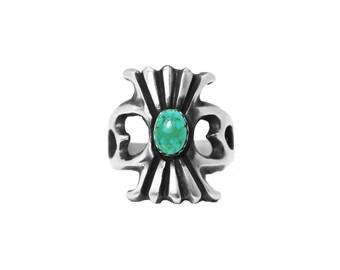 Navajo Satin Finish Turquoise Cast Ring