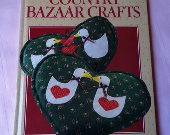 Country Bazaar Crafts Book, Better Homes and Gardens, crafts book, Vintage, sewing, quilting, needlework, vintage book, stencil, tin punch