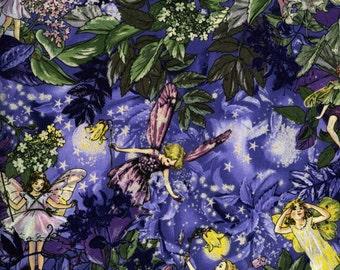 NIGHT FAIRIES in Glittery Purple Metallic by Michael Miller