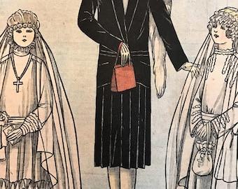 Le Petit Echo de la Mode April 1, 1928 Vintage Fashion Magazine France 1920's