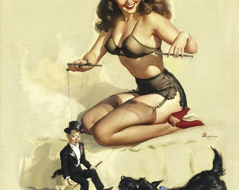 Pin Up Girl Art Print Reproduction, they're_easy_to_handle_1948 by Gil Elvgren