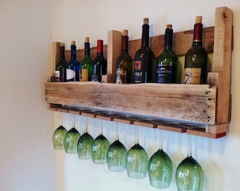 Pallet Wine Rack, Reclaimed Wood,  24 Stain Colors, Order by 12-16 for Xmas Delivery!!! Reclaimed Wood, Barn Wood, Made in Michigan