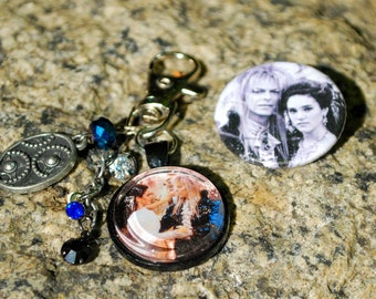 Labyrinth Key Chain and Pin set