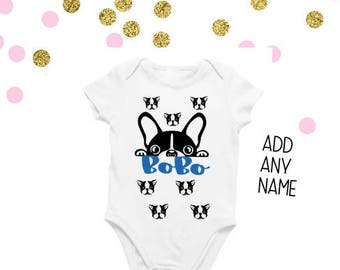 Boston terrier baby etsy baby boston terrier bodysuit baby big brother shirt baby big sister shirt baby negle Images