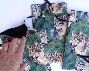 Forest Wolves Tarot or Rune Stones Bag