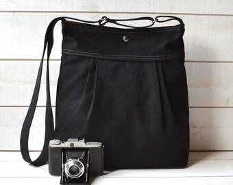 Waterproof Diaper bag / black baby diaper bag / Black Messenger bag