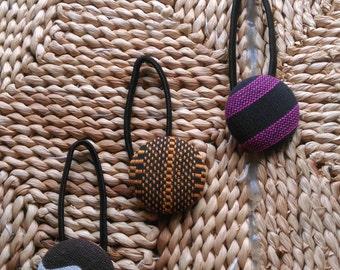 Covered Button Ponytail/ Dreadlocks/ Hair Tie