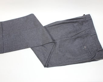 """vintage 80's - 90's -Jaeger- Men's pleat front trousers. Like 'NeW'. Brindled Gray - Wool Flannel. 34"""" Waist"""
