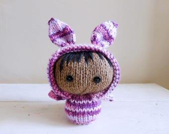 Cute Stuffed Animal, bunny stuffed animal, baby doll, ready to ship - Bunny Baby Amelia