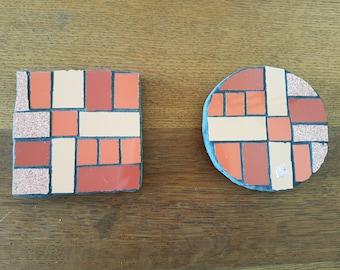 Mosaic coaster (set of 2)