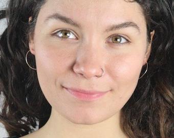 Silver Hoop Earrings, Argentium Hoop Earrings, Delicate Silver Hoops, Minimalist Hoops, HOOPS ARG