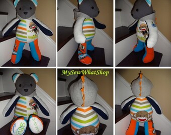 """18"""" Memory Bear / Keepsake Bear from Baby Clothes **PLEASE Read the Item Details of the Listing for Information Needed for Ordering**"""