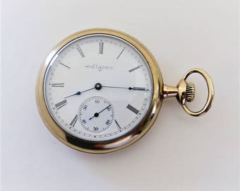 1904 Elgin Size 16, 15 Jewels Men Pendant Pocket Watch, keeps accurate time