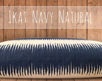 Textured DURABLE (but soft) Ikat Jiri Birch, 2 Colors, Tough Pet Bed Cover, SM to XL Designer Covers for Dog Beds, Personalization Extra