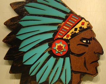 Southwestern Decor Rustic Home Decor Lake House Decor Rustic Wall Decor Native American Headdress Southwest Tribal Headdress Western Decor