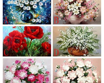 5d Diy Diamond Painting,Flower,Painting Rhinestones,Square,Full,Nature Diamond Embroidery,Needlework,Home Decoration Gift