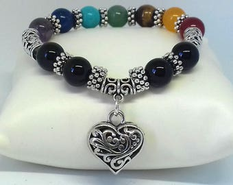 Chakra bracelet - crystal bracelet - chakra crystals - healing crystals - gemstone bracelet - healing bracelet - crystal healing jewelry