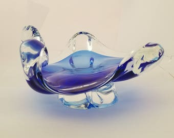 Murano Cobalt Glass Ashtray