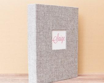 "Keepsake Box, Baby Gift, Baby Shower, Memory Box, Silver Burlap (Large 13"" x 10"" x 2"")"
